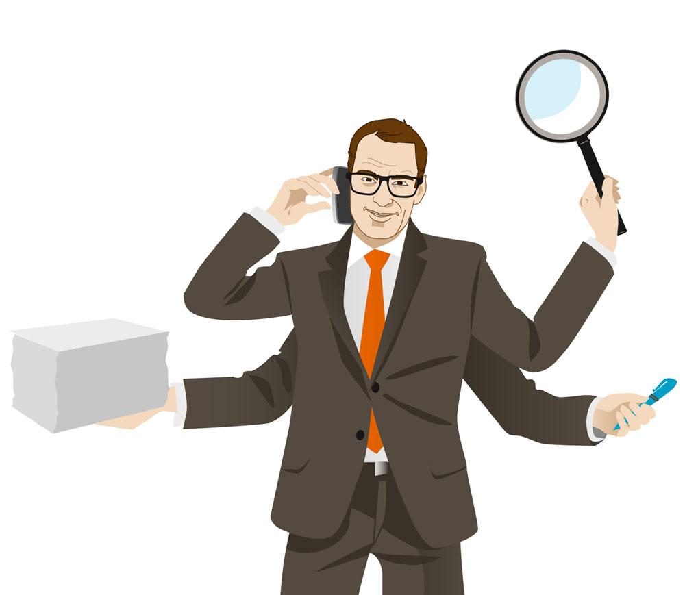 Banker Character Illustration Sylvia Wolf