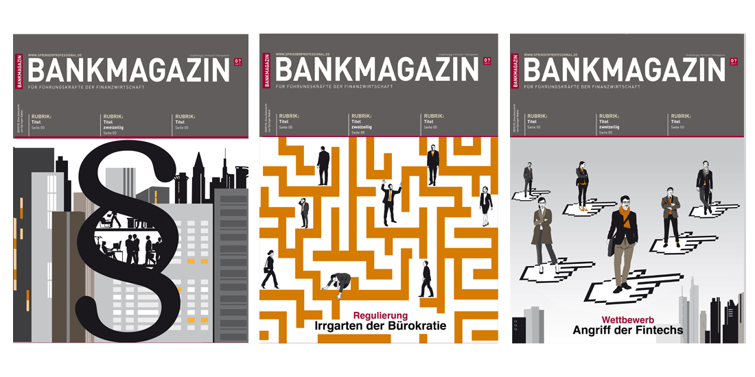 Bankmagazin Cover Illustration Sylvia Wolf