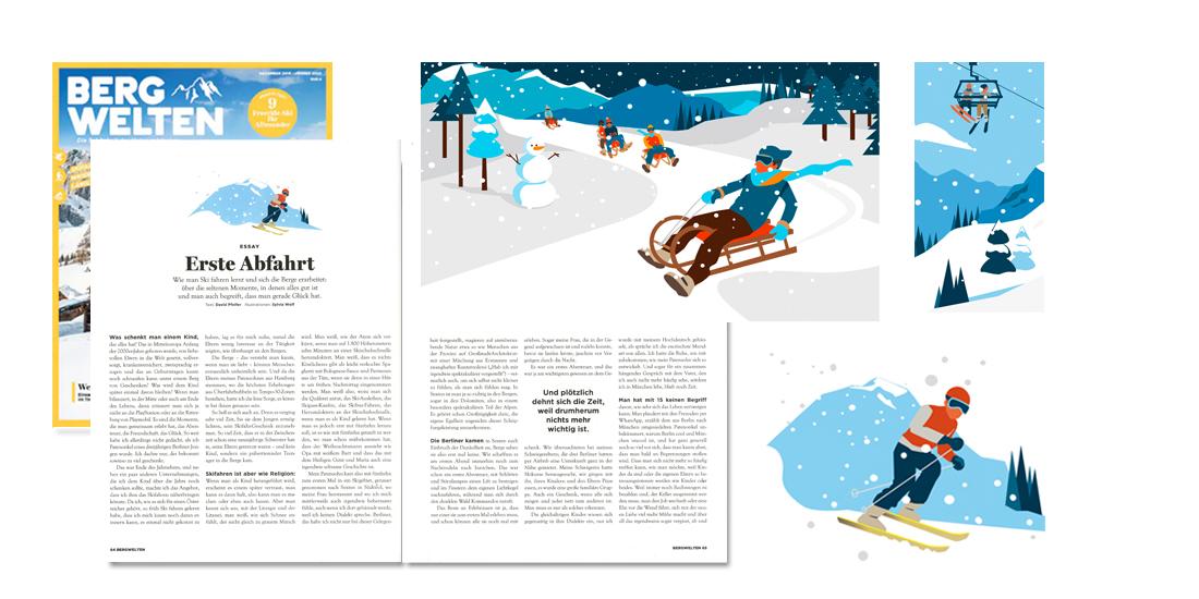 Bergwelten Sylvia Wolf Illustrationen