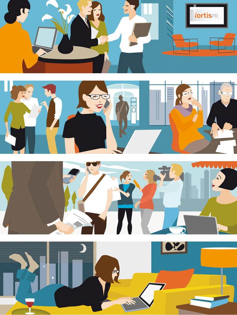Business Vektor Illustration Sylvia Wolf