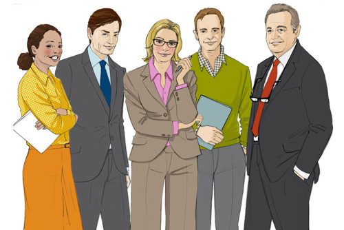 Character_Typen_Kommunikation Illustration Sylvia Wolf