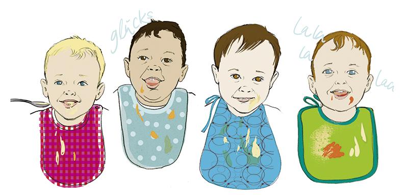 Babybrei Sylvia Wolf Illustrationen Wiesbaden