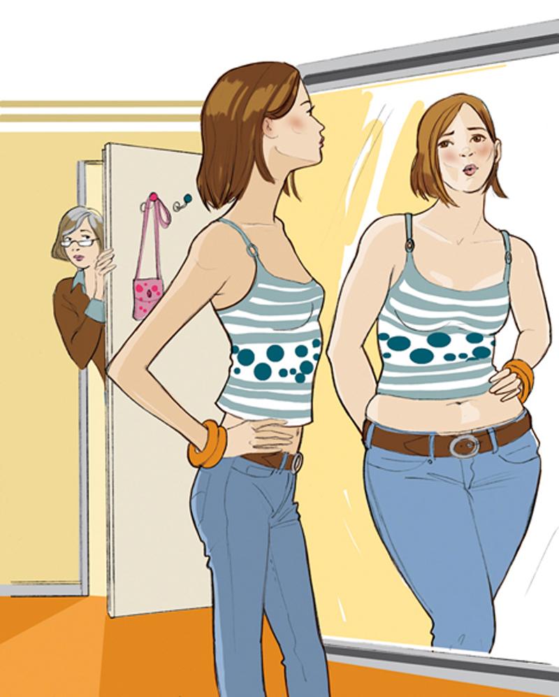 Ernaehrung Healthcare Gewicht Teen Maedchen Illustration Sylvia Wolf
