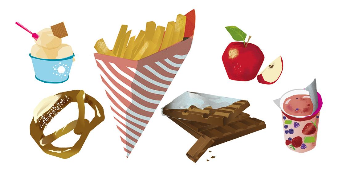 Food Lebensmittel Sylvia Wolf Illustrationen
