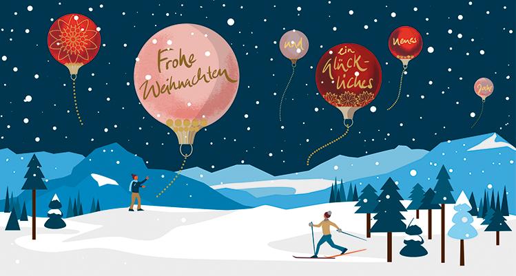 Frohe Weihnachten Sylvia Wolf Illustrationen