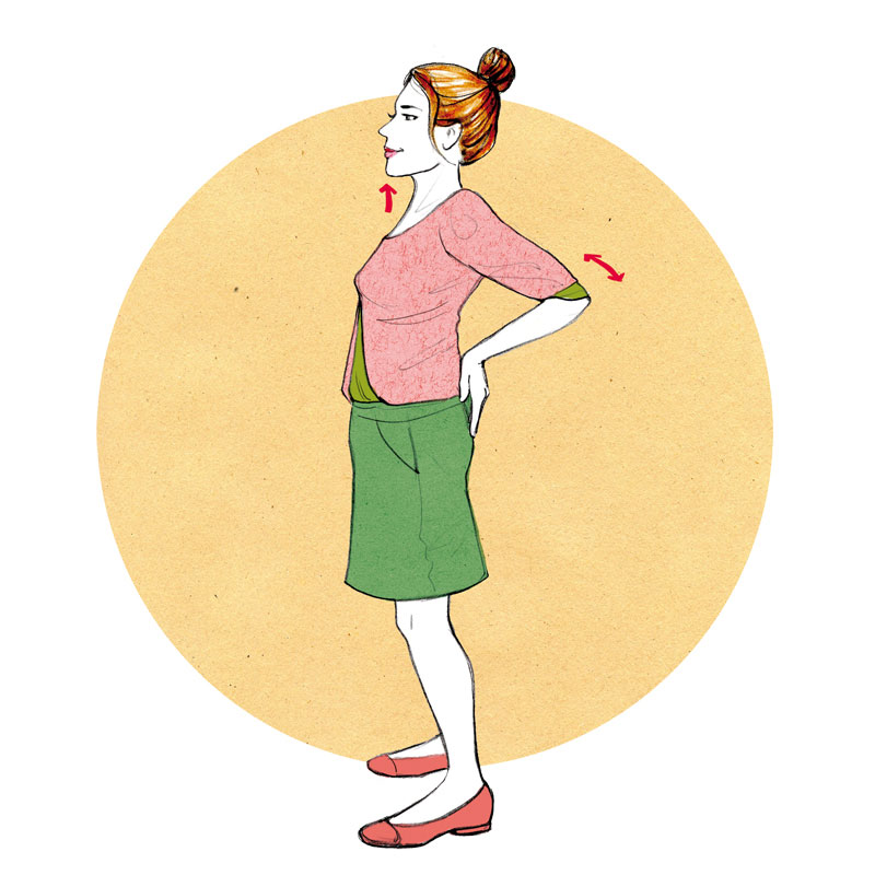 Gymnastik Infografik Uebung Fitness Training Illustration Sylvia Wolf
