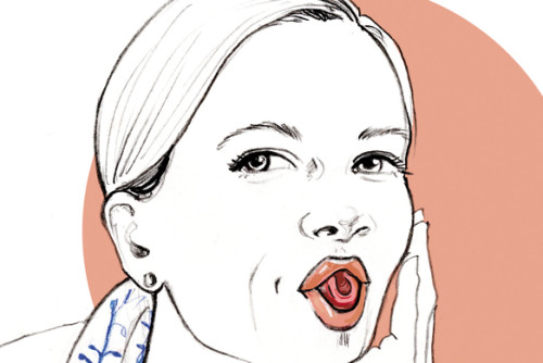 Gymnastik Uebung Gesichtsgymnastik Illustration Sylvia Wolf