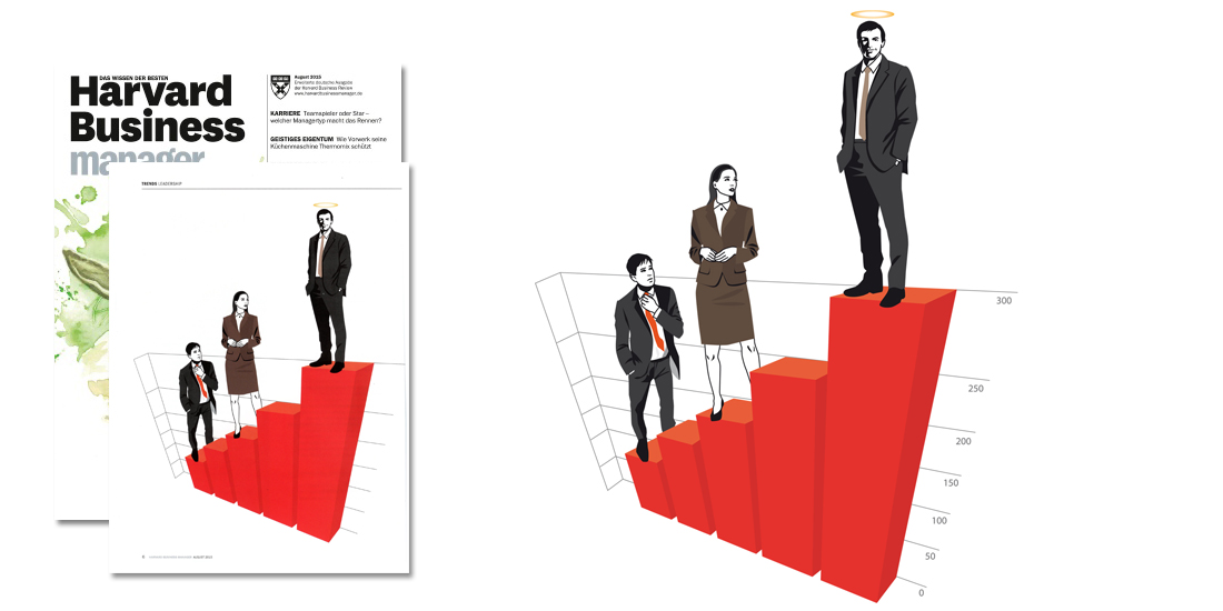 Harvard Business manager Edotproaö Illustration Sylvia Wolf