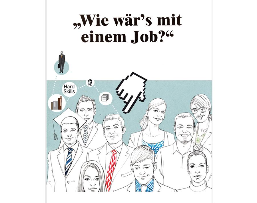 Hochschulanzeiger Pharma Job Sylvia Wolf Illustration