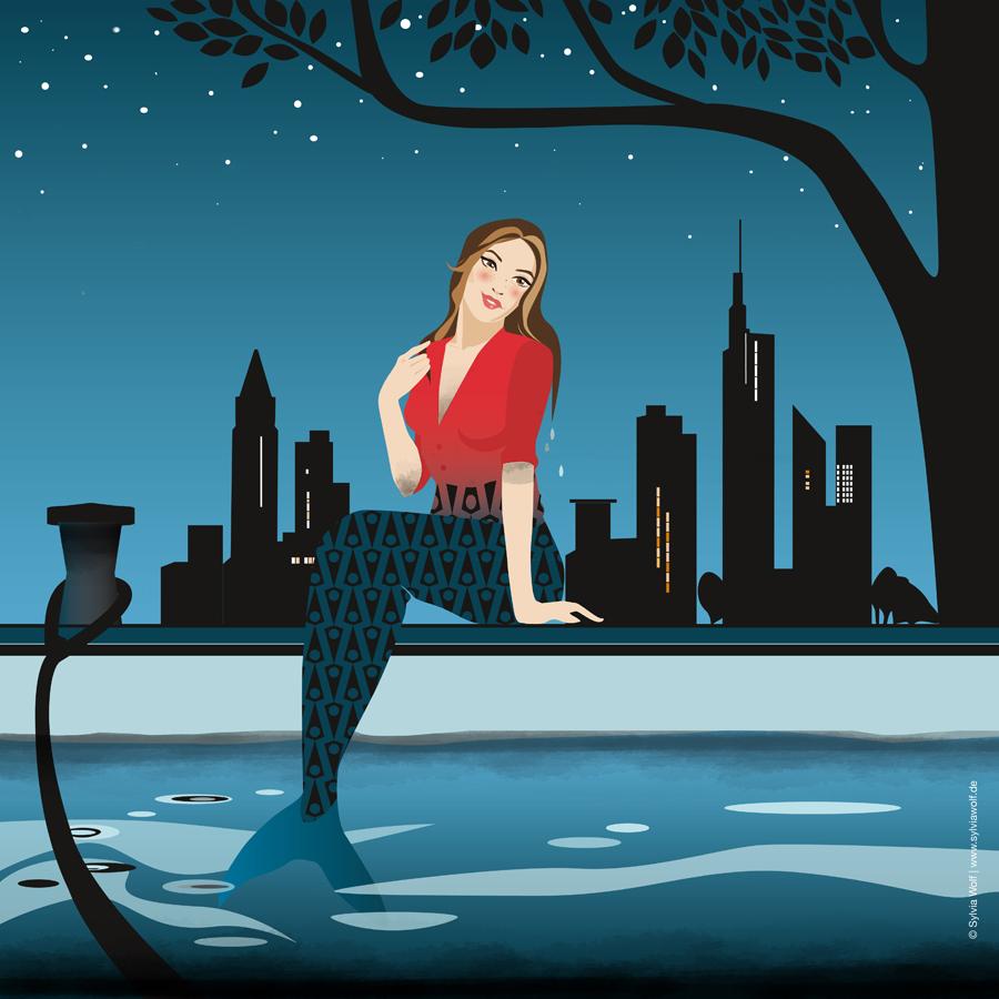 Kleine Main-Jungfrau Illustration Sylvia Wolf