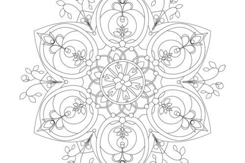 mandala flora illustration sylvia wolf