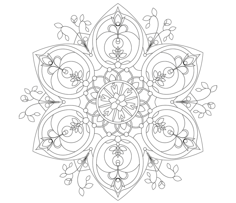 mandala flora illustration sylvia wolf