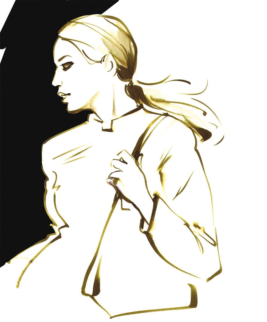 Modeplakat watercolor fashion fashiongirl drawing Illustration Lifestyle Magazin Sylvia Wolf
