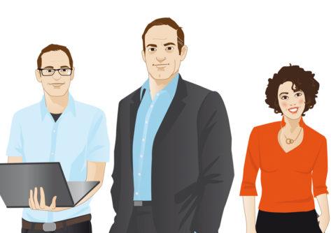 Personas Figur Character Sylvia Wolf Illustrationen