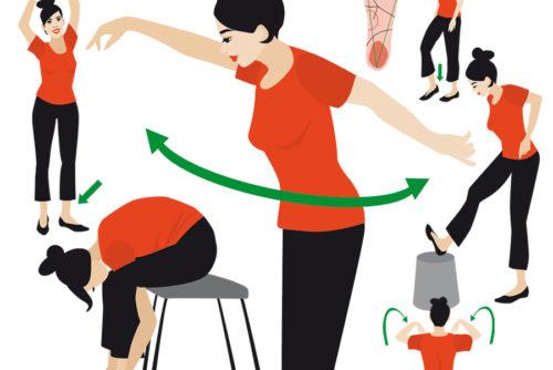 Vektor Flat Design Gymnastik Illustration Sylvia Wolf Wiesbaden
