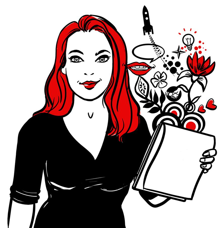 Portrait Sandy Dietrich Sylvia Wolf Illustrationen