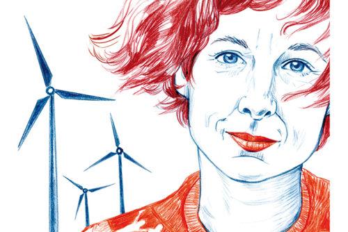 Portrait Juli Zeh Zeichnung Sylvia Wolf Illustration Wiesbaden Frankfurt