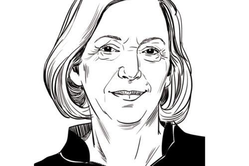 Portrait Zeichnung Porträt Frau Wanka Zeichnung Sylvia Wolf Illustration Wiesbaden Frankfurt