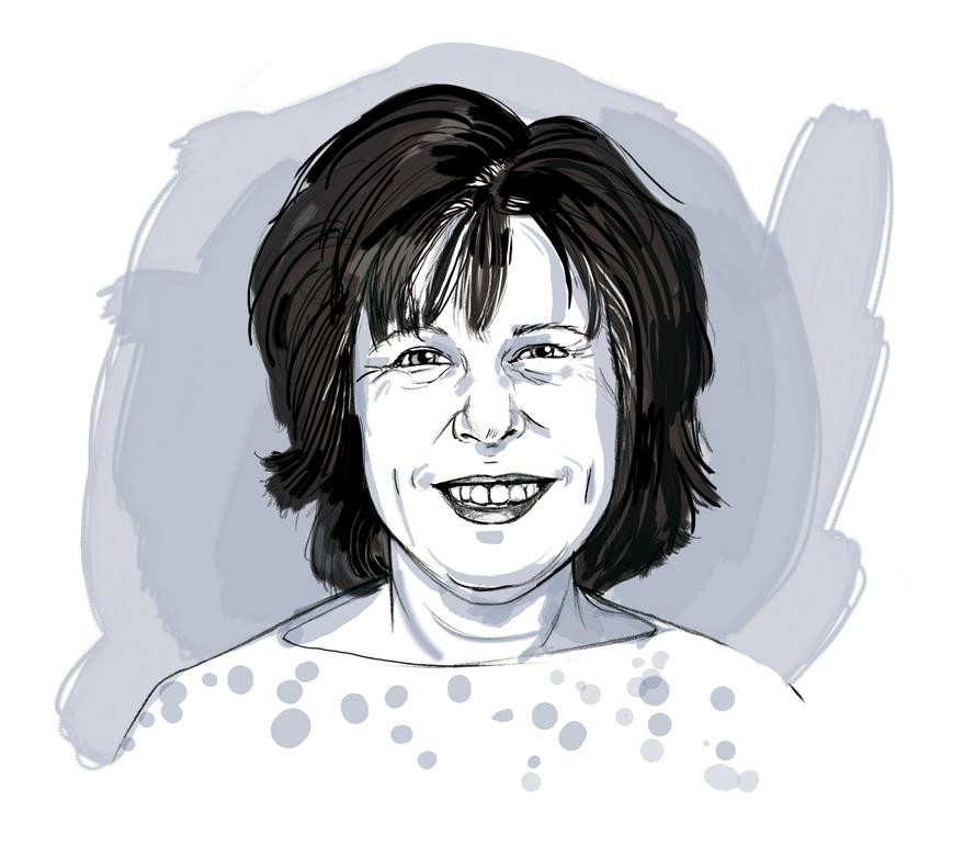 Portrait Porträt Illustration Zeichnung Sylvia Wolf Wiesbaden Frankfurt