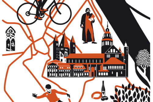 Stadtplan Mainz Sylvia Wolf Illustration