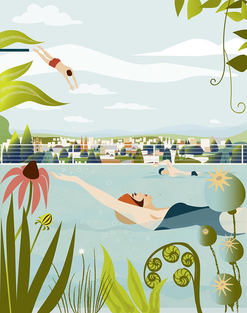 Sylvia-Wolf-Illustrationen-Swimmingpool