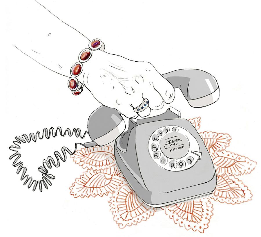 Sylvia-Wolf-Illustrationen-Telefon