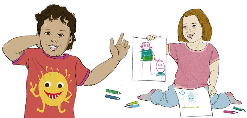 Sylvia Wolf Illustrationen Wiesbaden Kinder Schulkinder