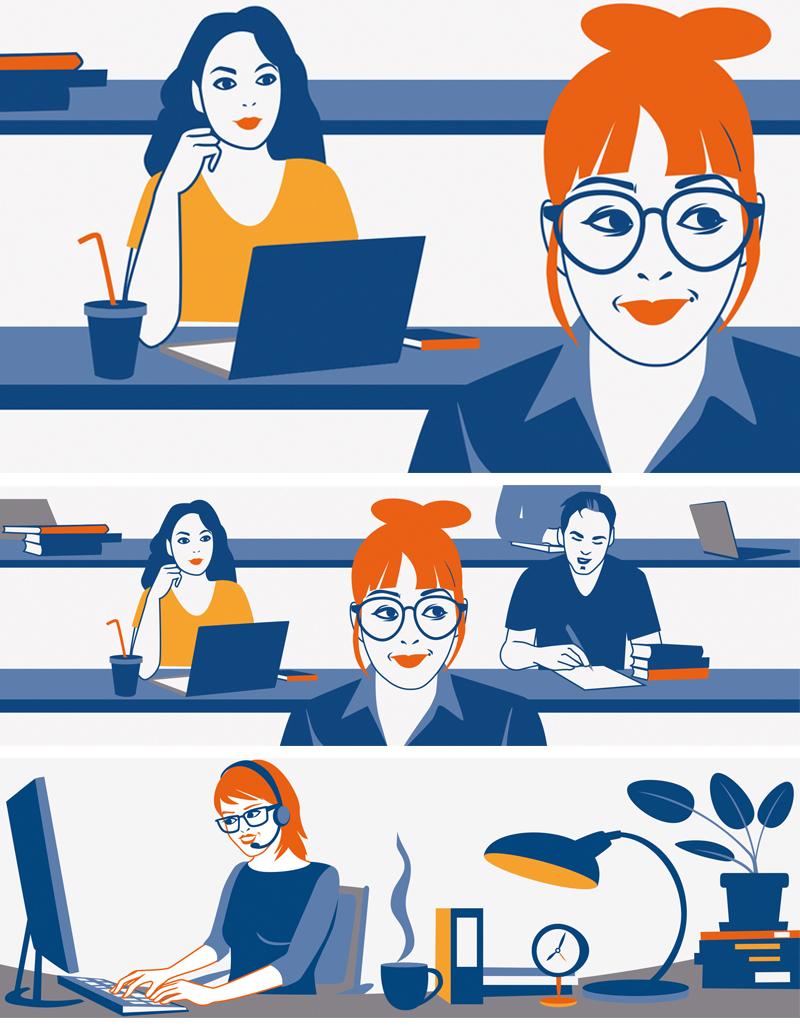 Vektor Illustration Website Illustration Sylvia Wolf Wiesbaden Frankfurt