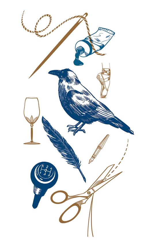 Vignetten Sylvia Wolf Illustrationen