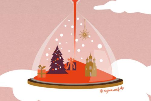 Weihnachtsgrüße Sylvia Wolf Illustrationen