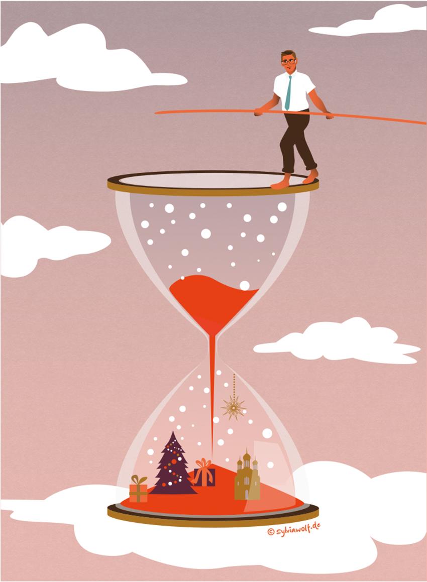 Weihnachtsgruesse-Sylvia-Wolf-Illustrationen