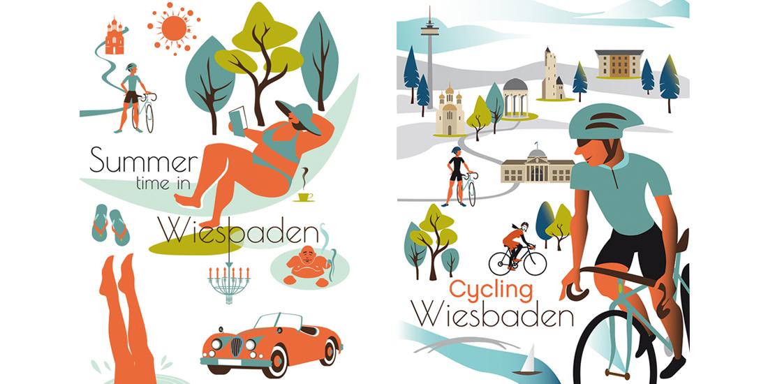 Wiesbaden Plakat_Illustrationen_Sylvia_Wolf