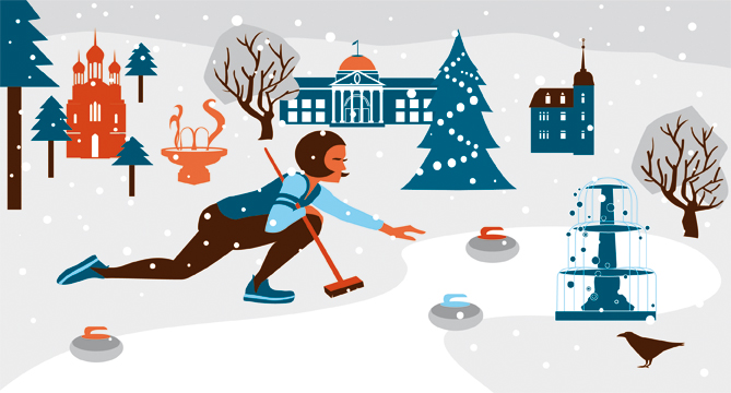 Döbele Design Neujahrskarte Sylvia Wolf Illustration Wiesbaden