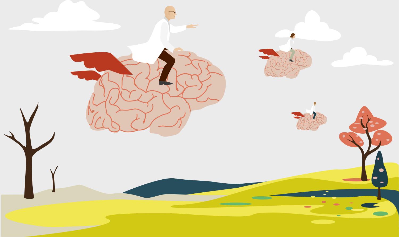 brain drain Sylvia Wolf Illustrationen